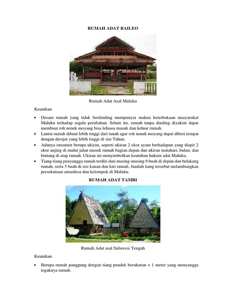 5 Rumah Adat Baileo Honai Tongkonan Dll