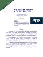 Arturo Rocha Felices - El Impacto Mundial del FEN 1877 - 1878