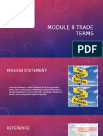 module 8 trade terms