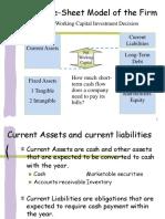 Balance-Sheet Model of the Firm