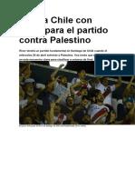 Viajá a Chile Con River Para El Partido Contra Palestino