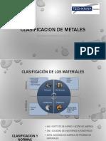 Clasificacion de los Metales