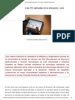 Nuevas miradas sobre las TIC aplicadas en la educación. Julio Cabero Almenara