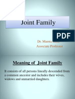 Joint Familly Lecture 1
