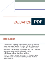 DCF and Multiple Based Valuation Dividend FCF