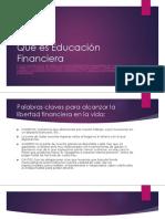 Qué Es Educación Financiera
