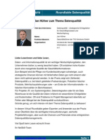 Competence SITE - Roundtable Datenqualität