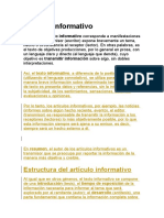 Artículo informativo