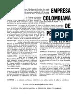 Publicidad Ecopetrol Revista Economía Colombiana (Contraloría), no. 55 (1963)