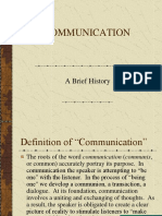 Brief History of Communication