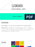 geoboards manipulative portfolio - entry 3