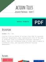 fraction tiles manipulative portfolio - entry 5