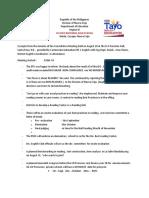 Consultative Meeting Format