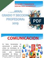 COMUNICACIÓN Y TRANSPORTE  HERRAMIENTOS PARA DESARROLLO ppt