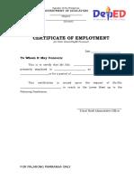 1. CerficateOfEmployment DepEd( Public)_2018.doc