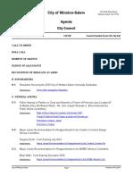 City of Winston-Salem, City Council Agenda, April 15, 2019