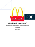 writing example tainted salads at mcdonald case study paper