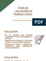 Evaluaciòn en Trabajo Social 2018