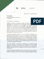 Nota de ADEPA, AEDBA y AAER a Dante Sica