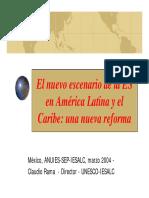 El nuevo escenario de la ES en América Latina y el Caribe