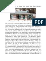 The brief biography of Hazrat Syed Musa Shah Qadri Chennai