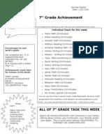 Achievement Shee for Week 5t[1]