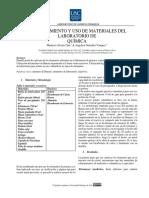 Reconocimiento y Uso de Materiales Del Laboratorio De