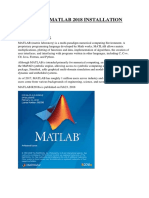 Sop for Matlab 2018 Installation