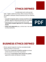 Benefits of Ethics