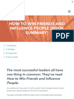 Short Summary of How to win friends and influence people