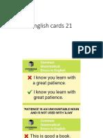 English Cards 21