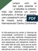 Expresion Oral Del Portugues