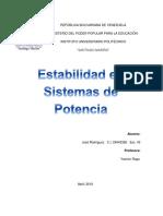 Estabilidad en Sistema de Potencia