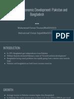 Comparative Economic Development_ Pakistan and Bangladesh