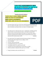 Taxation Direct & Indirect JUNE 2019