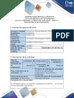 Guía de Actividades y Rúbrica de Evaluación - Paso 4 - Descripción de La Información