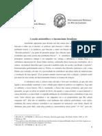Trabalho Final Filosofia II - Aristóteles e Freud