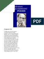 Salvatore Quasimodo - Poesie