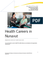 Health Careers in Nunavut English