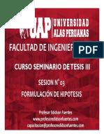 Sesion 03 Formulacion de Hipotesis