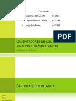 presentación calentadores de agua, tinacos y vaños a vapor.pdf