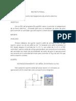 PID para control de temperatura de un horno eléctrico