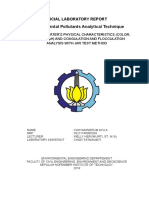 ANALYSIS OF WATER'S PHYSICAL CHARACTERISTICS (COLOR, TURBIDITY, pH) AND COAGULATION AND FLOCCULATION ANALYSIS WITH JAR TEST METHOD