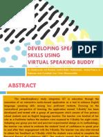 Developing Speaking Skills Using