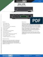 Ips-Vps Data Sheet