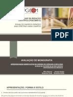 Avaliação Monografia - Aprendizagem Significativa