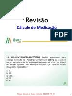 Cálculo de Medicação - Revisão