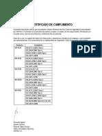 Certificado de Cumplimiento (3M - Trajes de Seguridad) Jun.2016