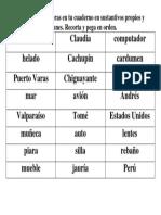 Clasifica sustantivos propios y comunes..docx