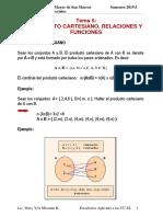 5 Producto Cartesiano, Relaciones y Funciones Cc.ss.